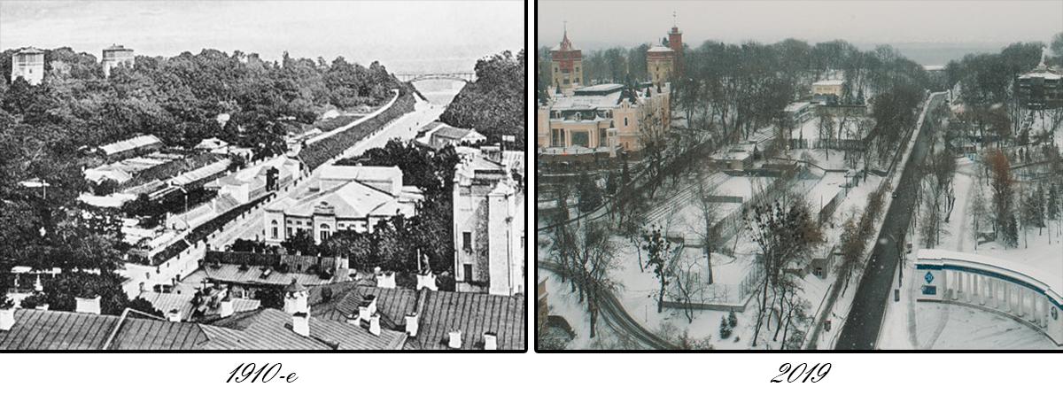 Общий вид на Петровскую аллею и Парковый мост