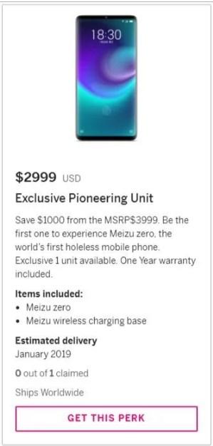 3 000 долларов стоит эксклюзивная версия Meizu Zero