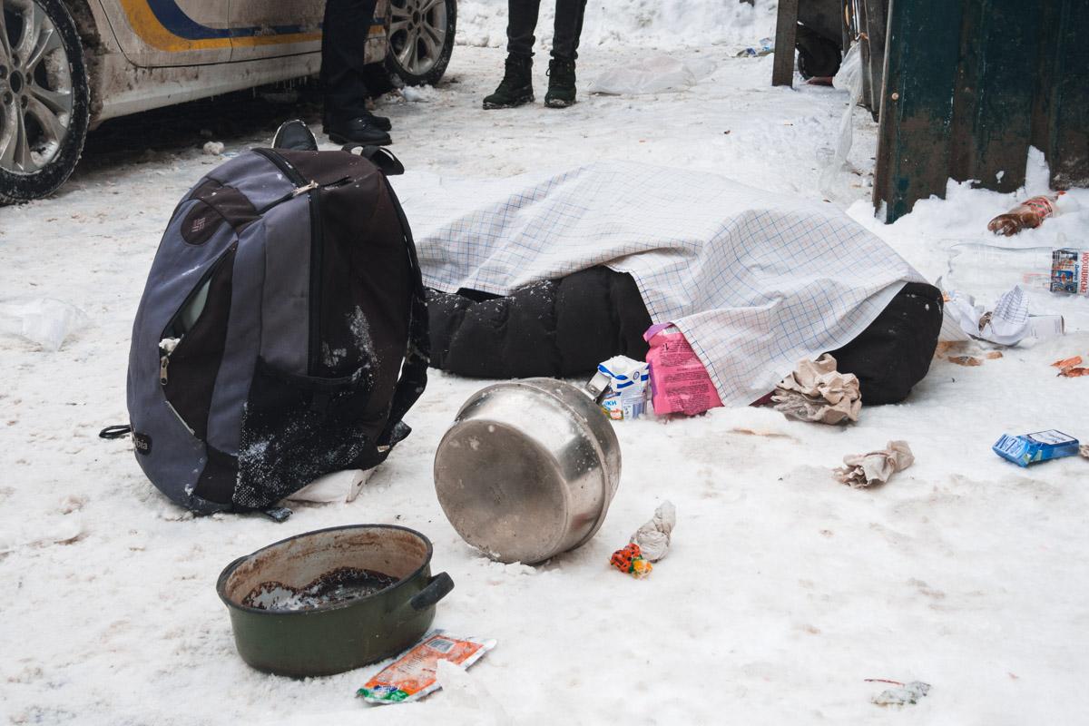 Во время смотра тела следов насильственной смерти обнаружено не было