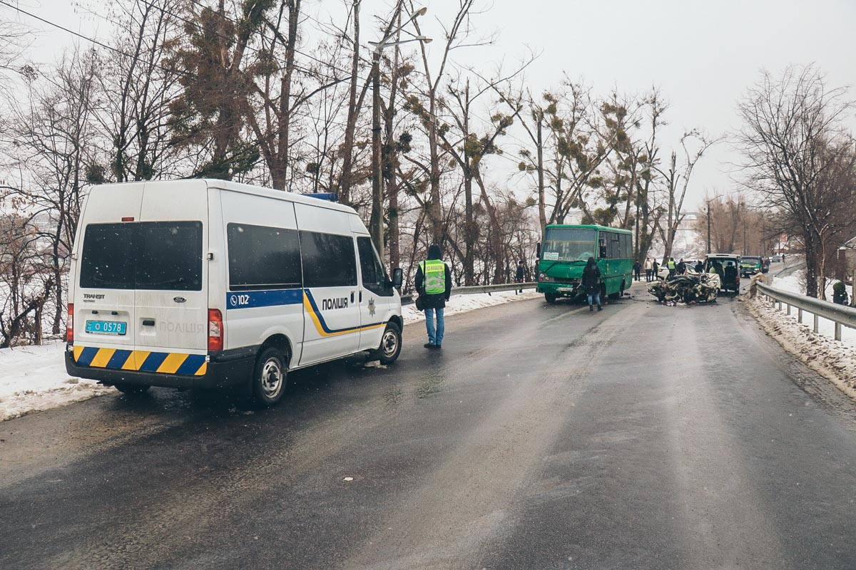 2 января под Киевом, в городе Обухов произошла смертельная авария