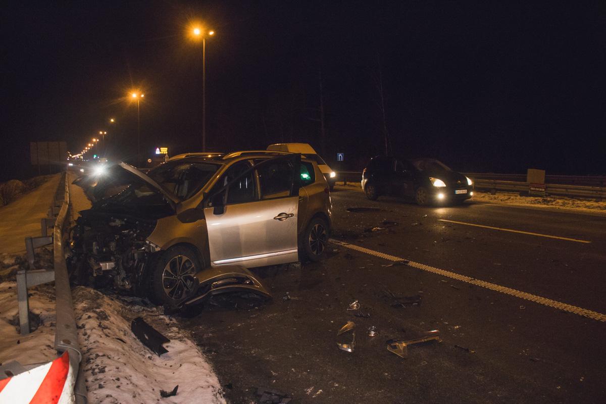Под Киевом на Житомирской трассе произошло ДТП с пострадавшими