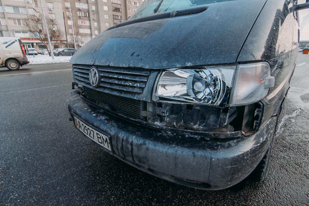 Водитель микроавтобуса также не пострадал