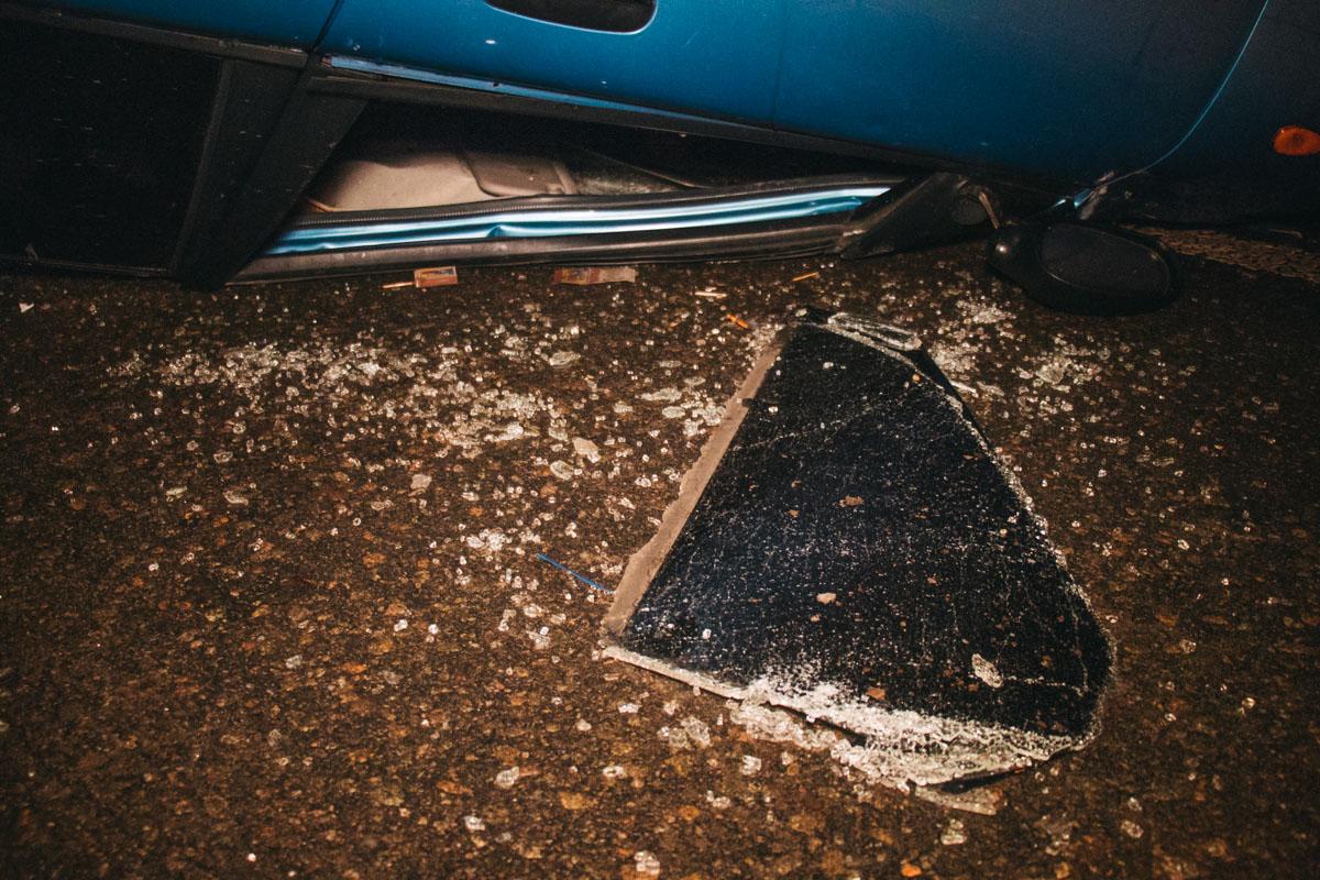 В пятницу, 11 января, в Киеве на Воздухофлотском мосту произошло ДТП.