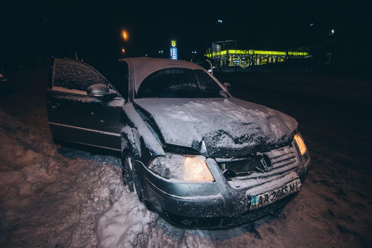 В Киеве на Жулянском мосту произошло ДТП