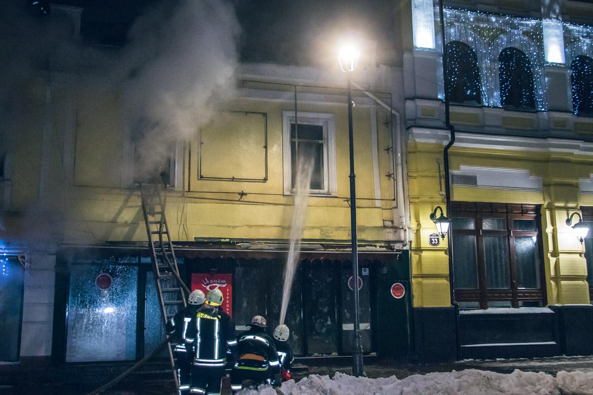 Загорелся ресторан Tike