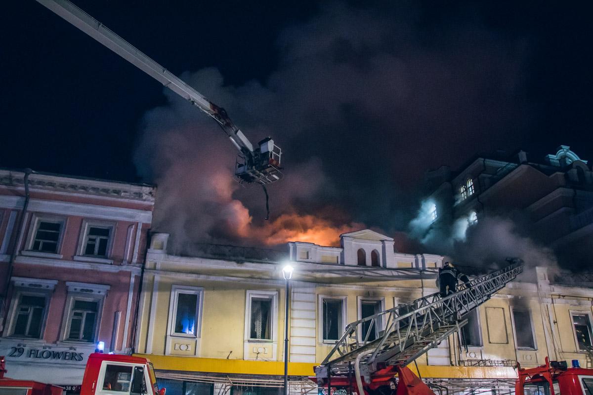 В четверг, 24 января, в Киеве по адресу улица Сагайдачного, 31 в двухэтажном здании произошел пожар
