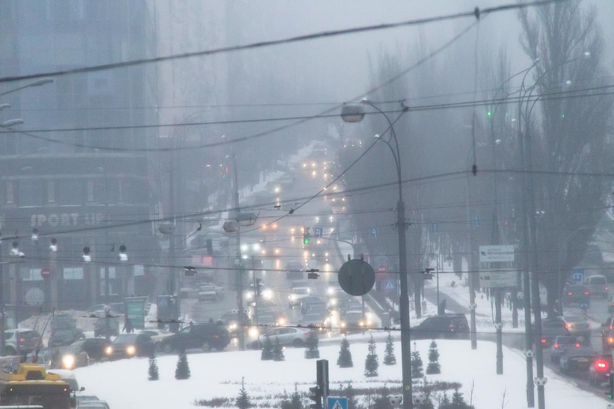 Затуманенные узоры мегаполиса