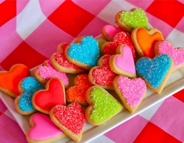 А еще такие разноцветные валентинки поднимают настроение