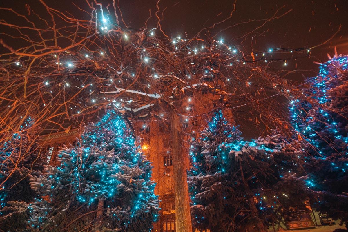 Звуки Рождественских мелодий доносились то ли из заведений, то ли проигрывались в голове