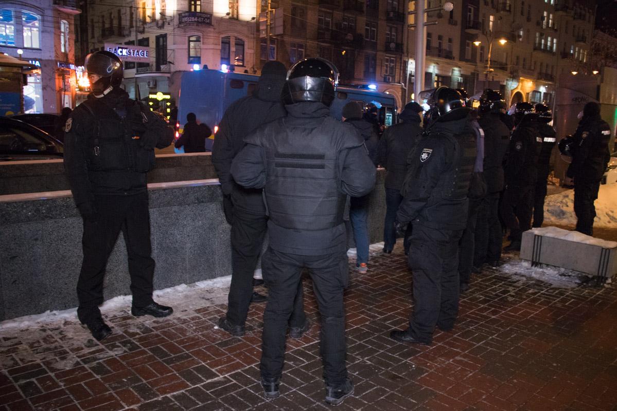 В Киеве по адресу улица Большая Васильковская, 21 собрались множественные силы полиции