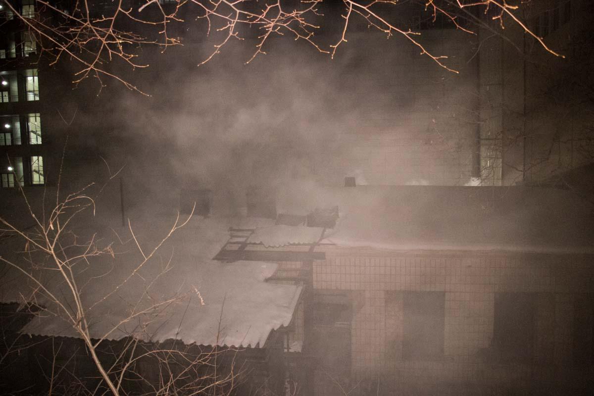 Дым окутал несколько центральных улиц