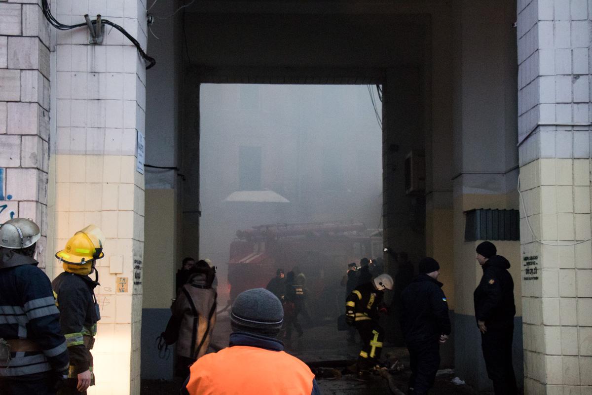 В среду, 16 января, в центре Киева произошел пожар