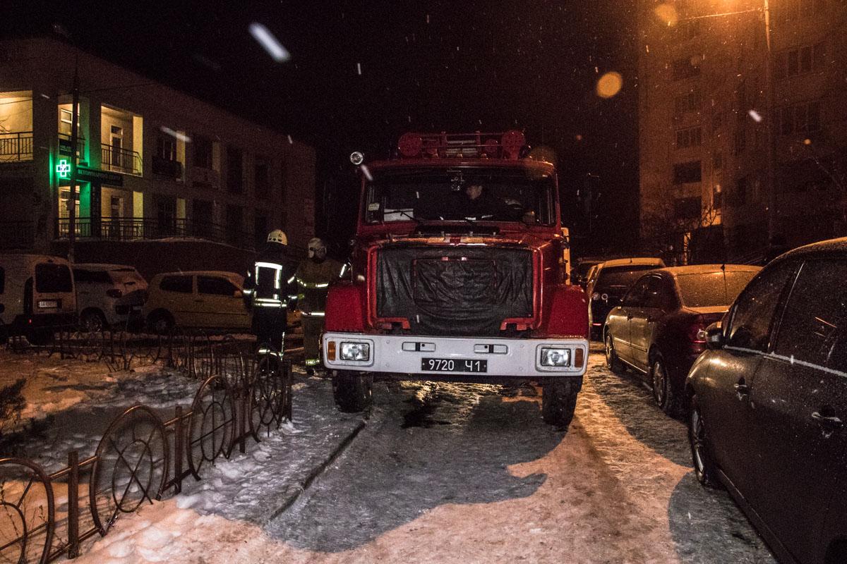 На месте дежурили бригады пожарных, а также экипаж патрульной полиции