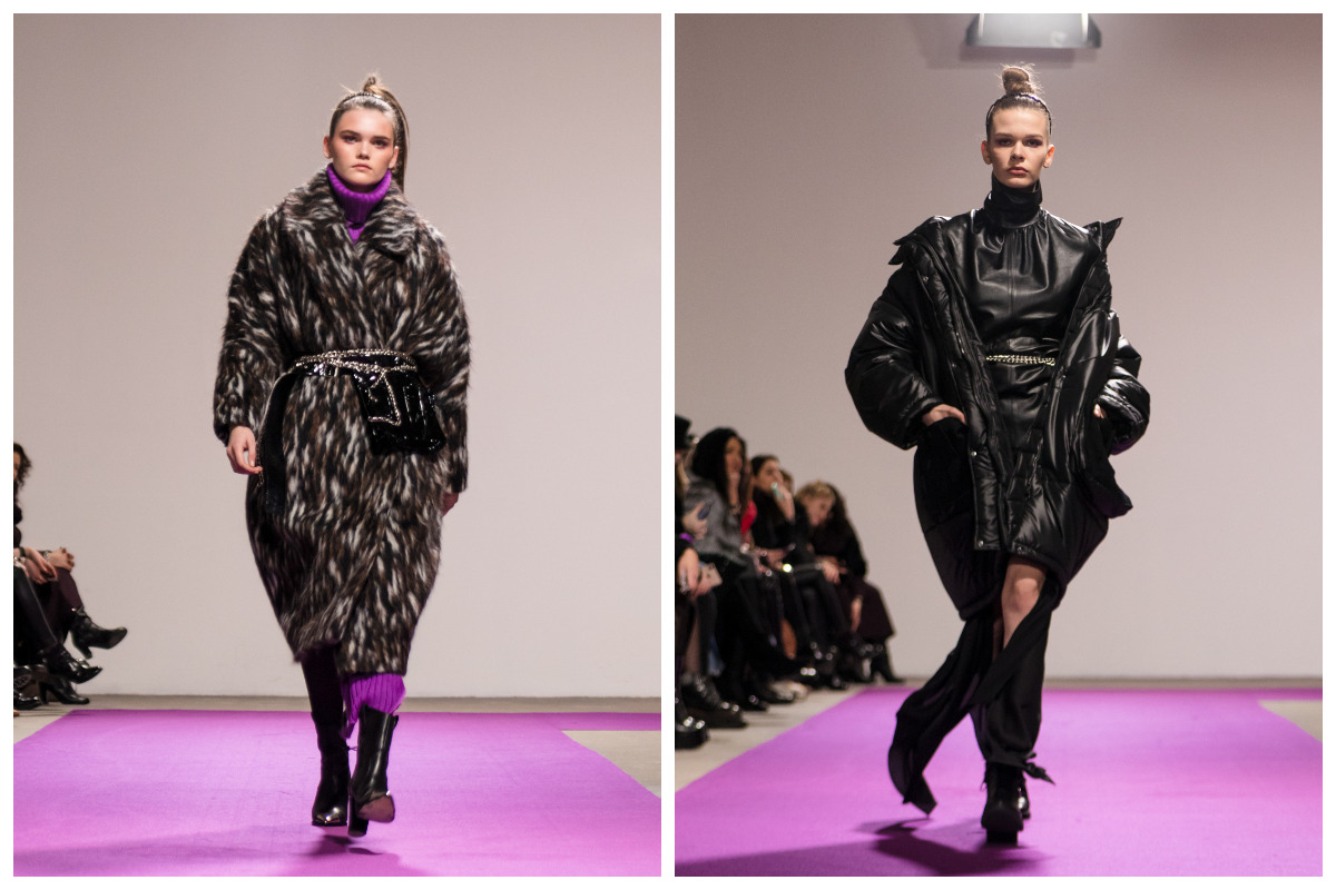 Все посетителиUkrainian Fashion Weekлицезрели строгие образы и фактурные материалы в смелой цветовой гамме