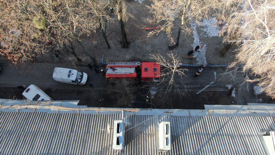 19 февраля в Киеве по адресу улица Маршала Гречка, 8г произошел пожар