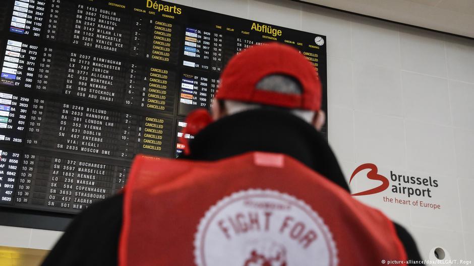 В Бельгии из-за забастовки в среду, 13 февраля, закрыты аэропорты и наблюдаются перебои в железнодорожном движении