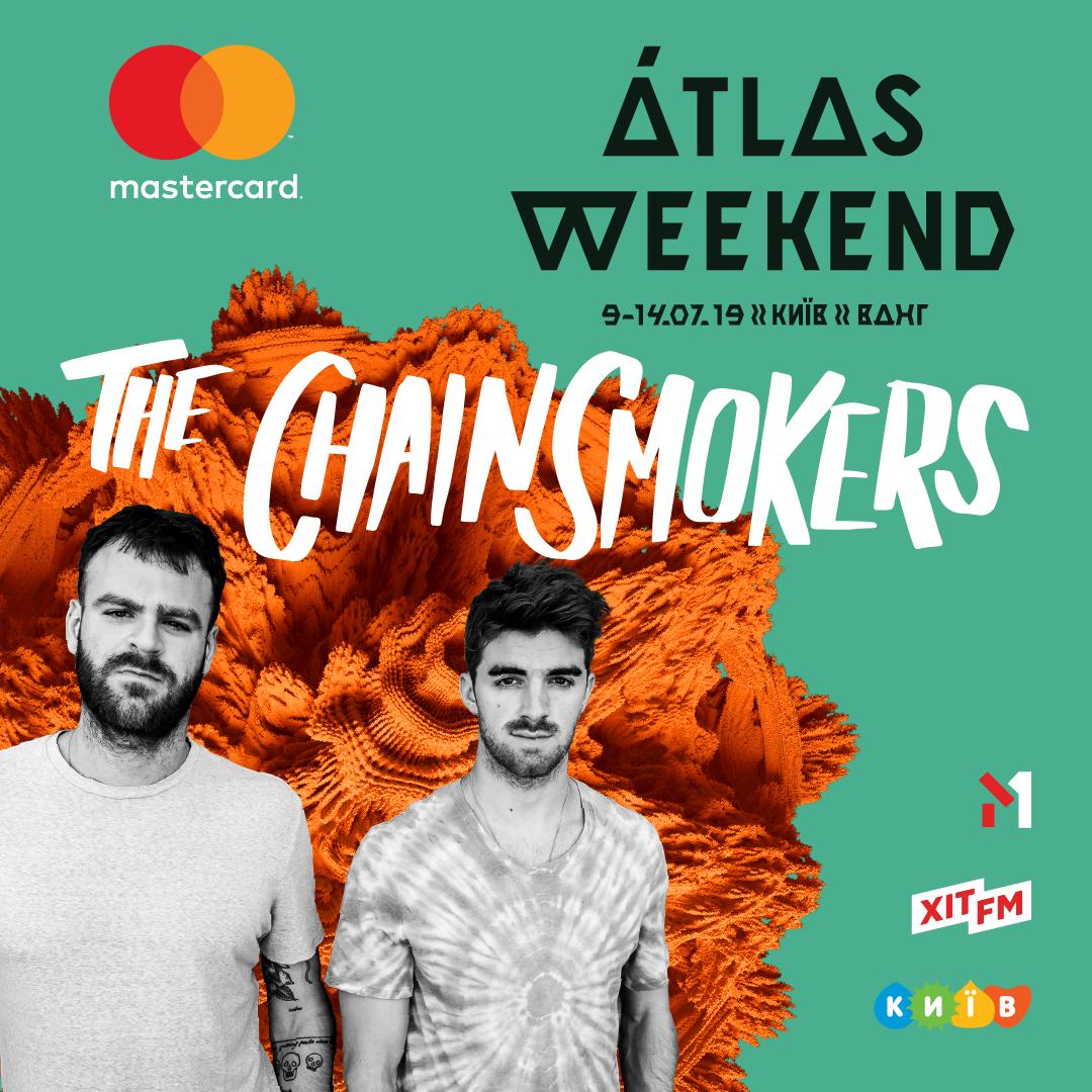 The Chainsmokers стали первыми хедлайнерами Atlas Weekend 2019