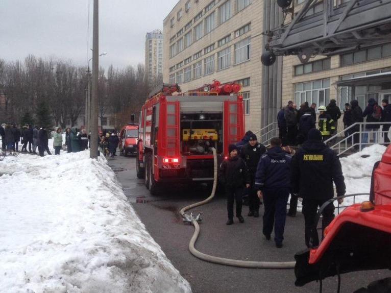 15 февраля в Киеве по адресу проспект Комарова, 1 случился пожар