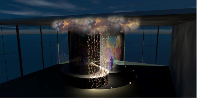 Одна из локаций, которая представлена на Carbon media art festival
