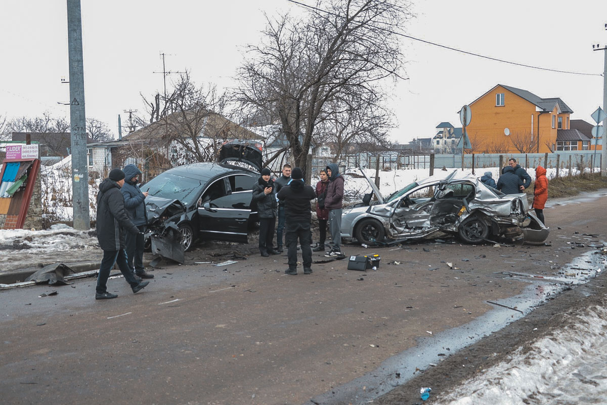 11 февраля в Борисполе случилось смертельное ДТП с участием автомобилей Opel и Volkswagen