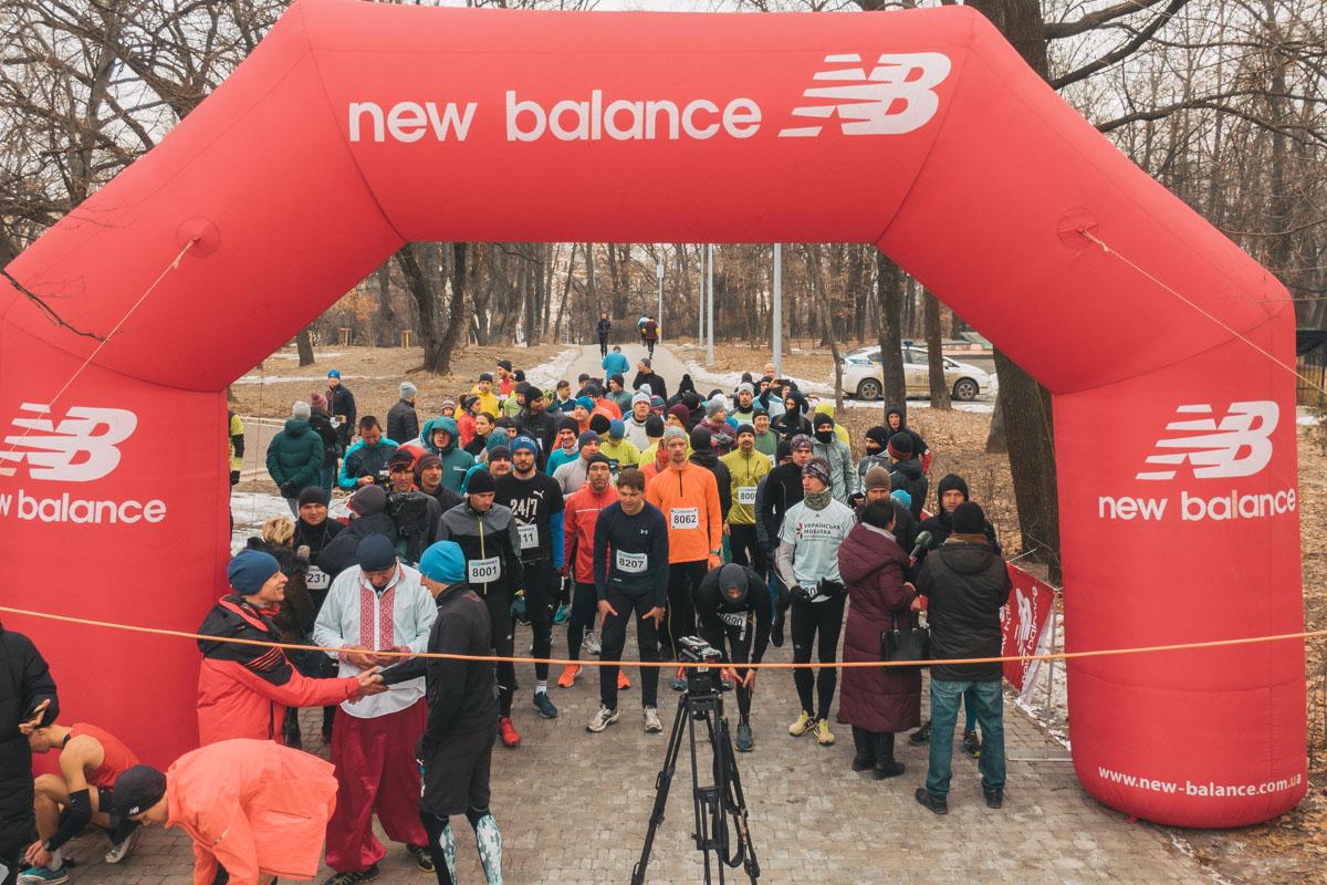 В Голосеевском парке прошел забег Snow Run