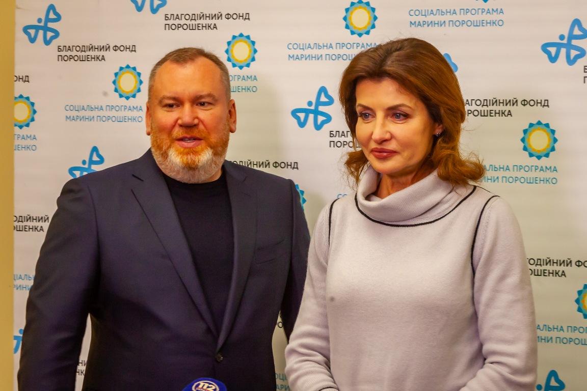 Валентин Резниченко и Марина Порошенко
