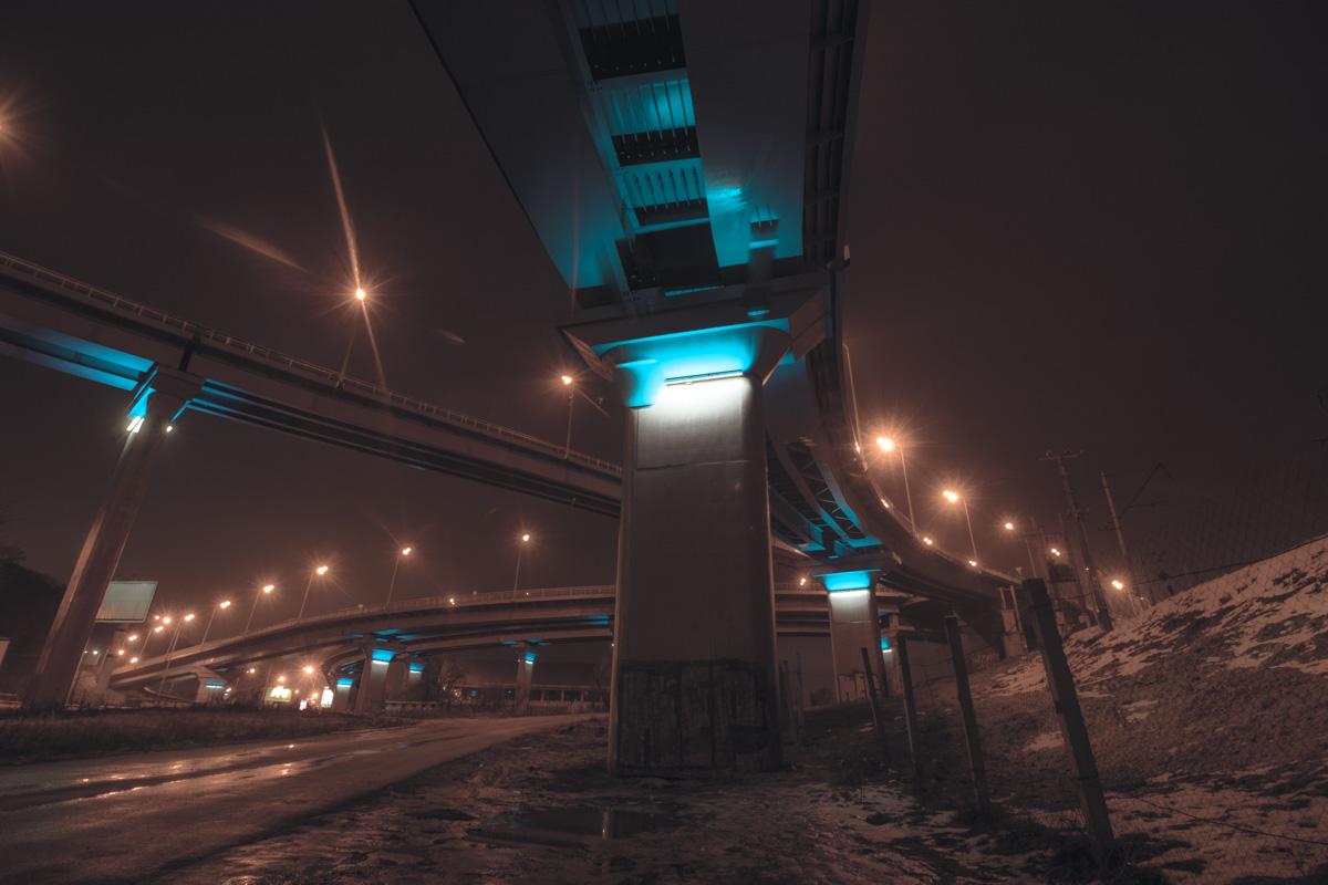 Развязки Дарницкого моста впечатляют по-особенному
