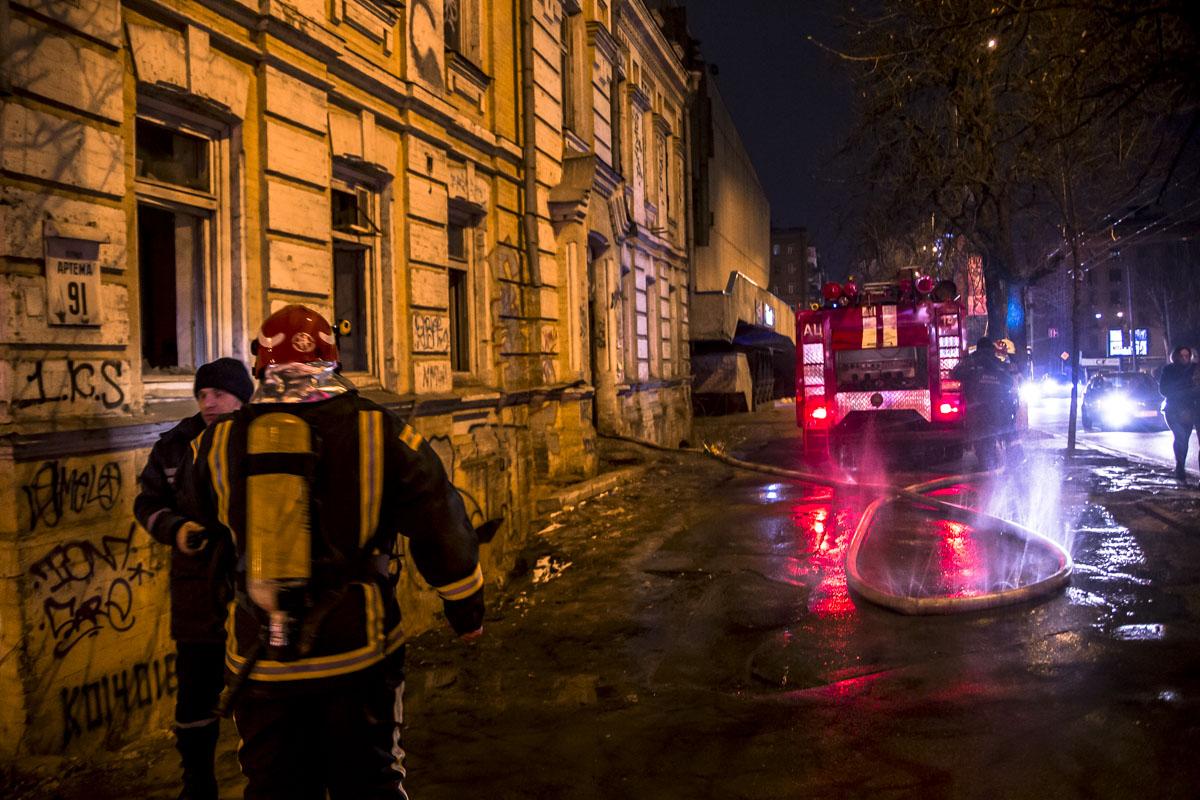 """Горело здание возле кинотеатра """"Киевская Русь"""""""