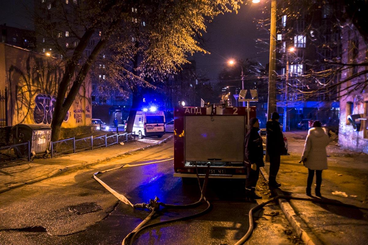 Возгорание произошло около 18:00