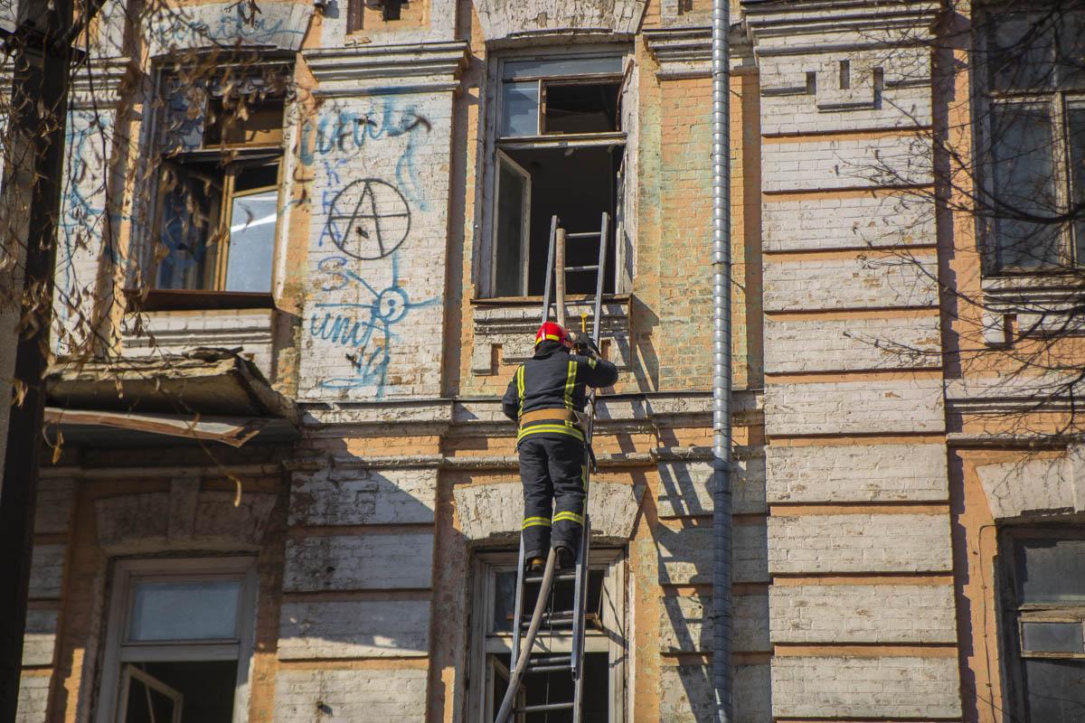 В понедельник, 25 февраля, в Киеве возле кинотеатра «Киевская Русь» произошел пожар