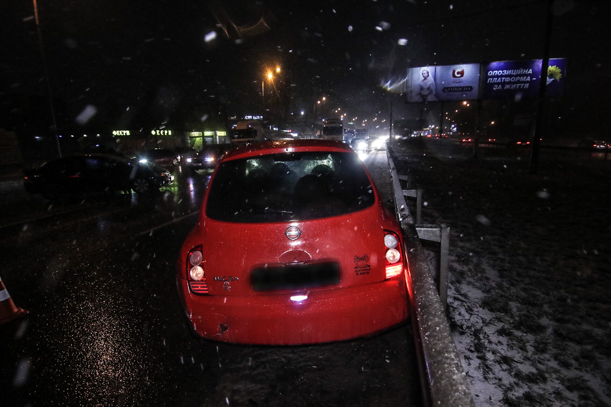 12 февраля на Кольцевой дороге произошла авария