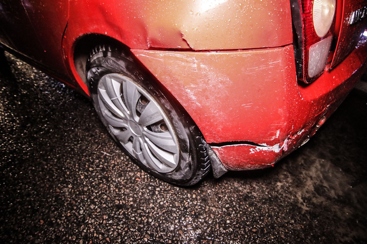 Столкнулись автомобили Nissan Micra и Honda Civic