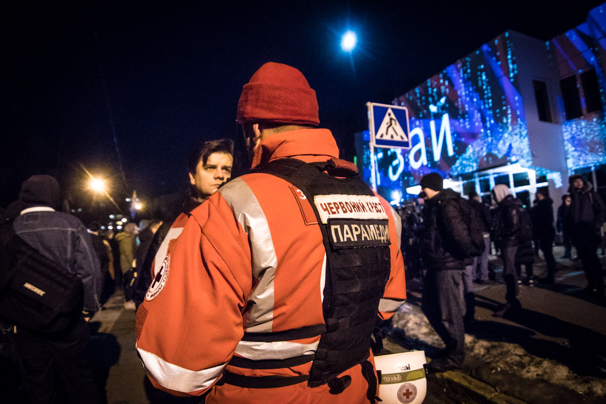 На время шествия несколько улиц были перекрыты для движения, а колонну сопровождала полиция диалога и медики