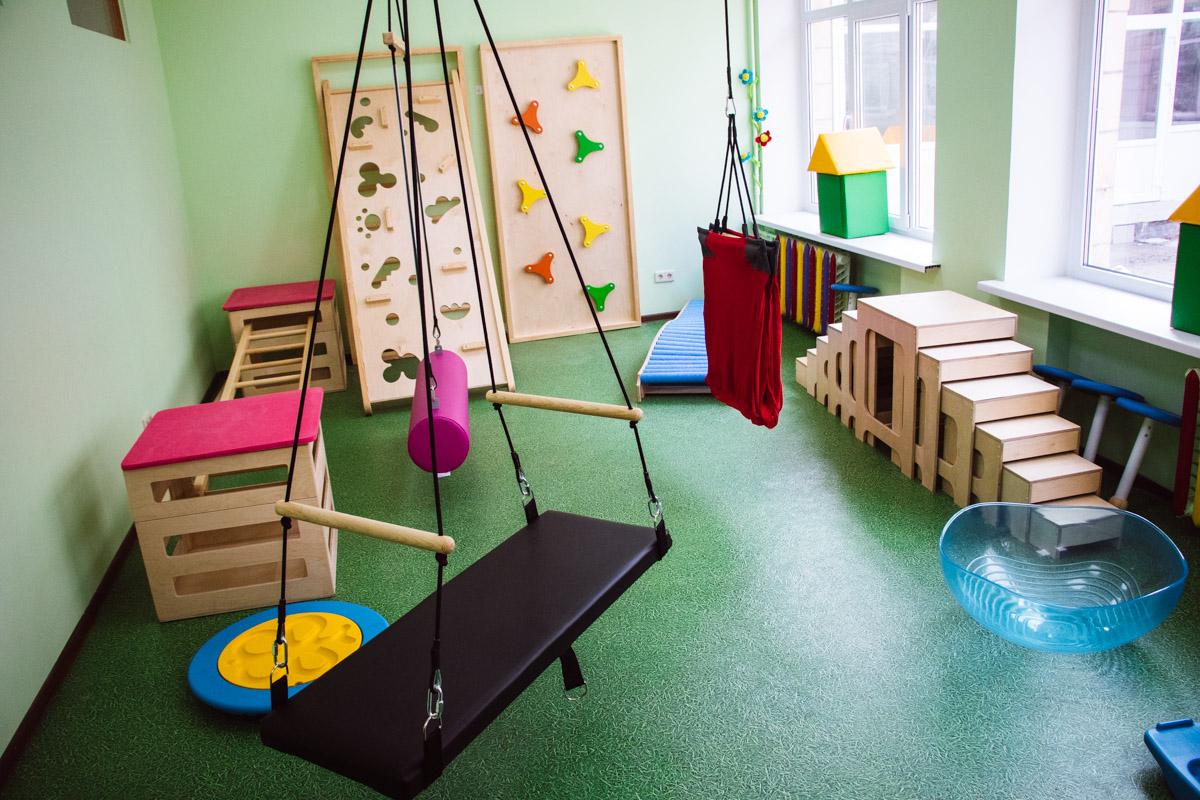В реабилитационной комнате все тренажеры экологически чистые