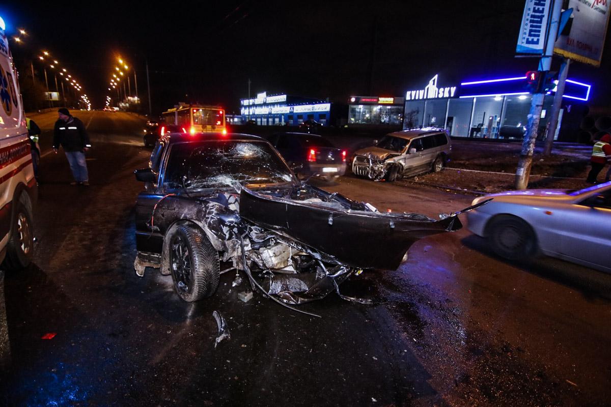В Оболонском районе Киева на пересечении улиц Полярной и Семьи Кульженко произошло ДТП с пострадавшими