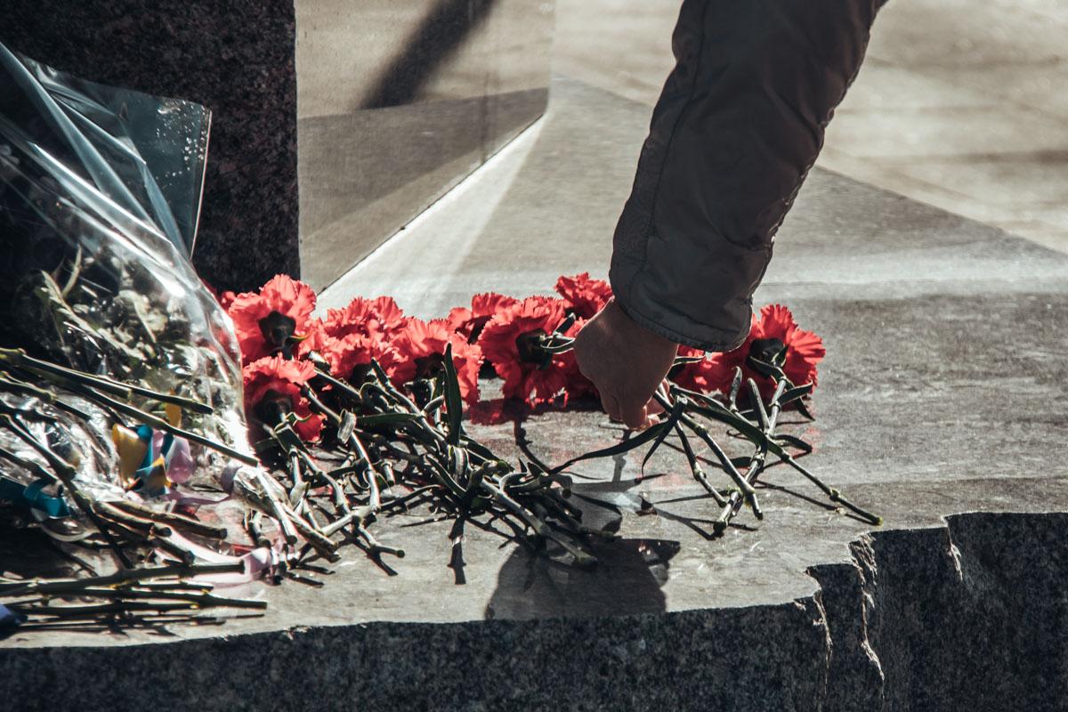 В Киеве в Бабьем Яру прошло чествование памяти Елены Телиги
