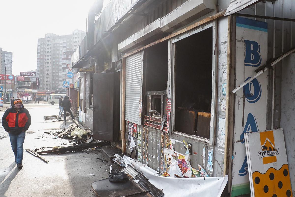 В ночь на 25 февраля в Киеве по адресу проспект Владимира Маяковского, 15 произошел пожар