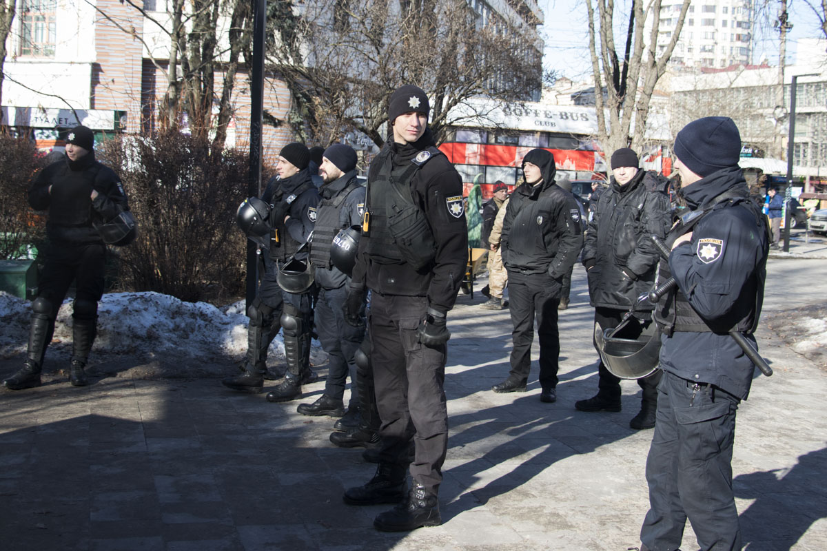 На месте дежурила полиция