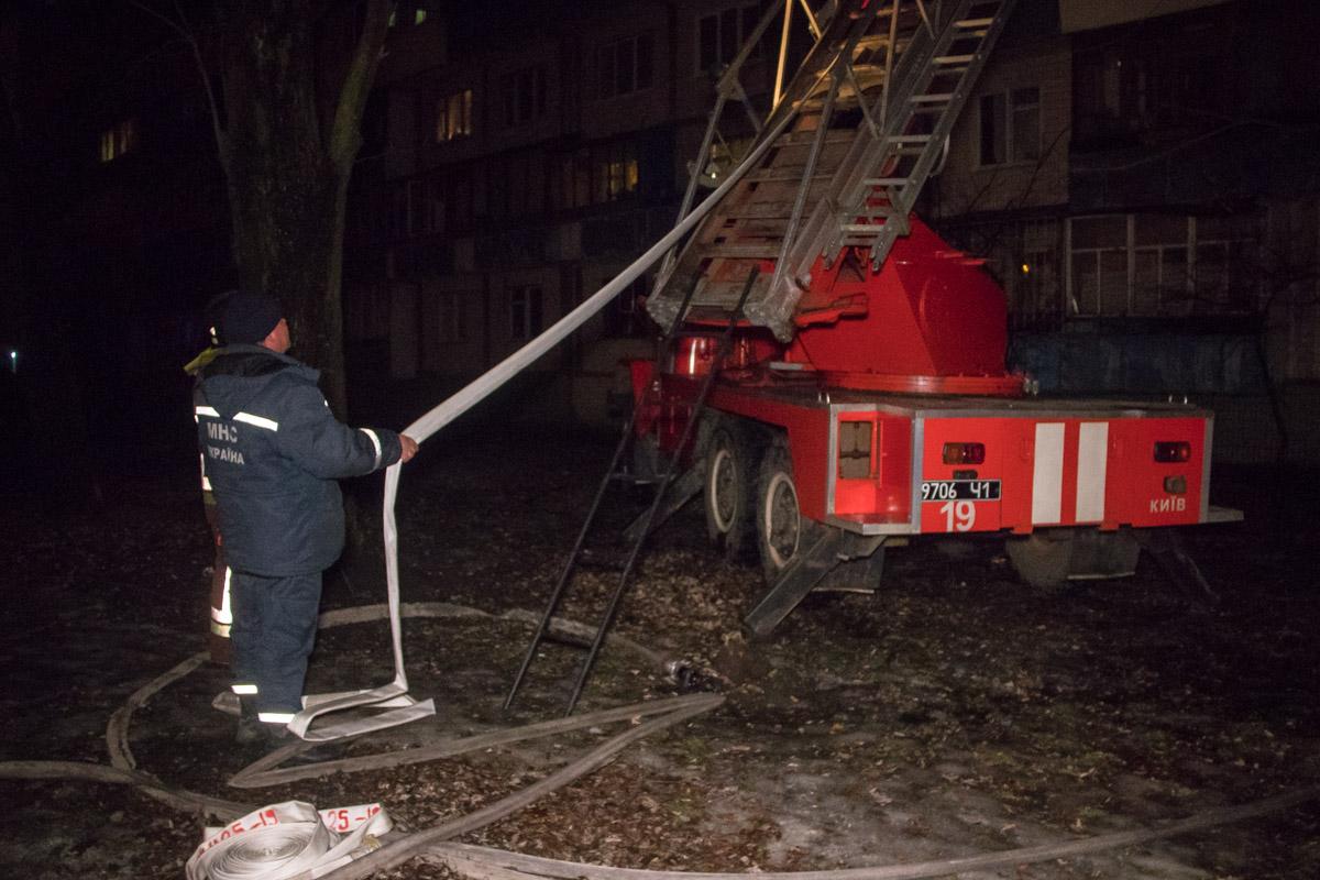 На месте работали пять единиц основной и специальной техники, а также дежурили медики и патрульные