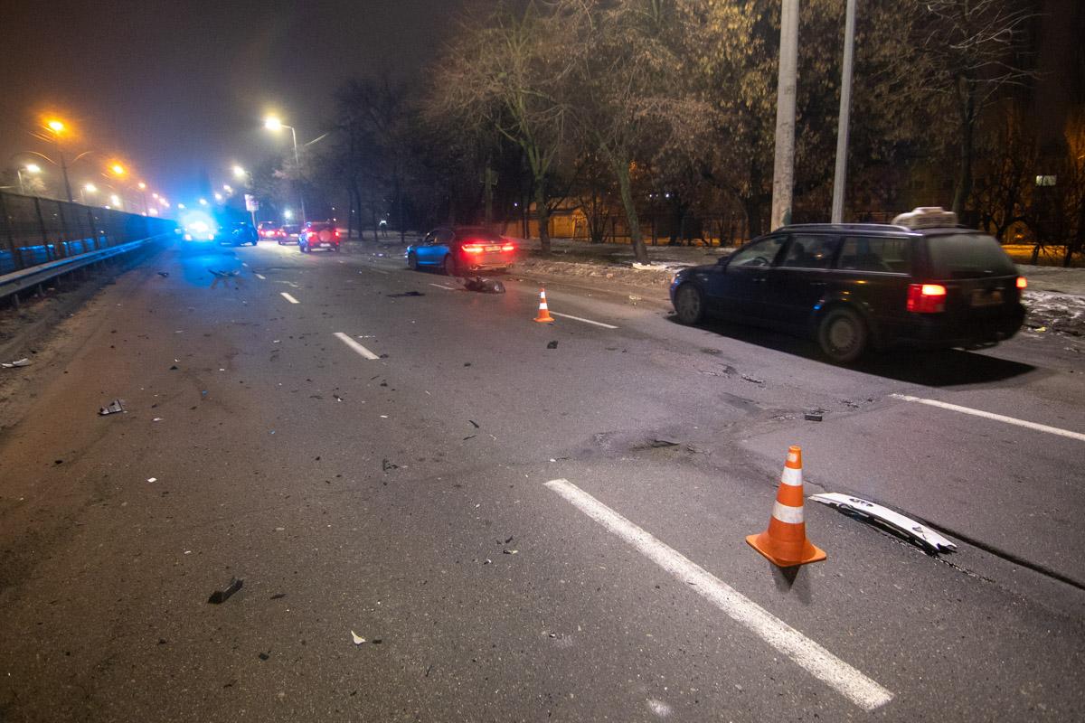 На улице Борщаговской произошло серьезное ДТП