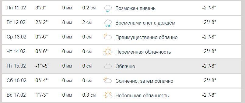 Популярный международный сайт погоды Accuweather также прогнозирует дожди и снег в Киеве