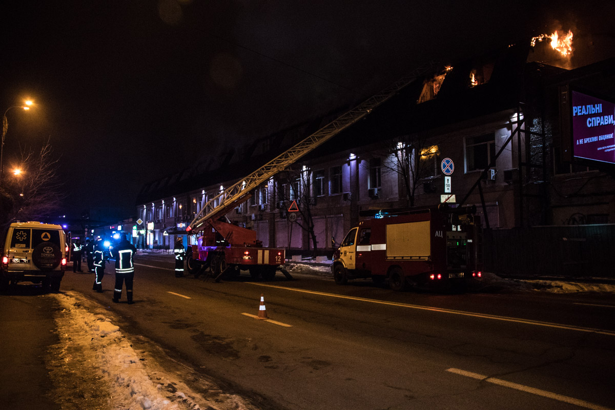 On the night of January 10 in the street Kazimira Malevicha 86 a large-scale fire broke out in Kiev