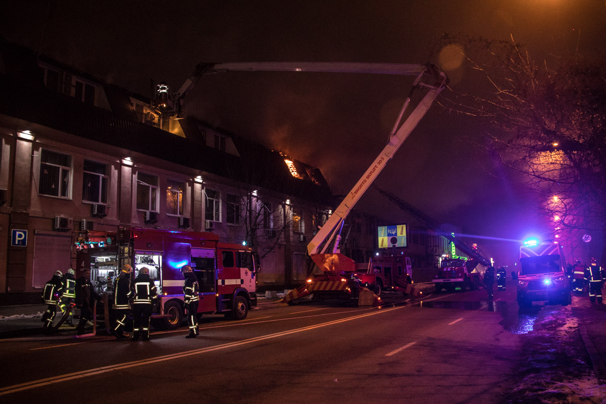 The firefighters managed to localize the fire around 1:15 am