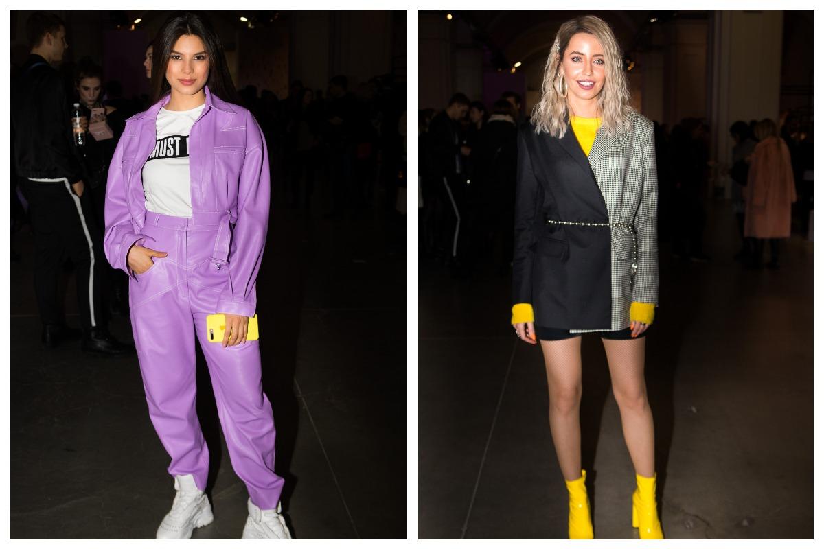 Мишель Андраде и Надя Дорофеева выделялись из толпы яркими цветами своей одежды