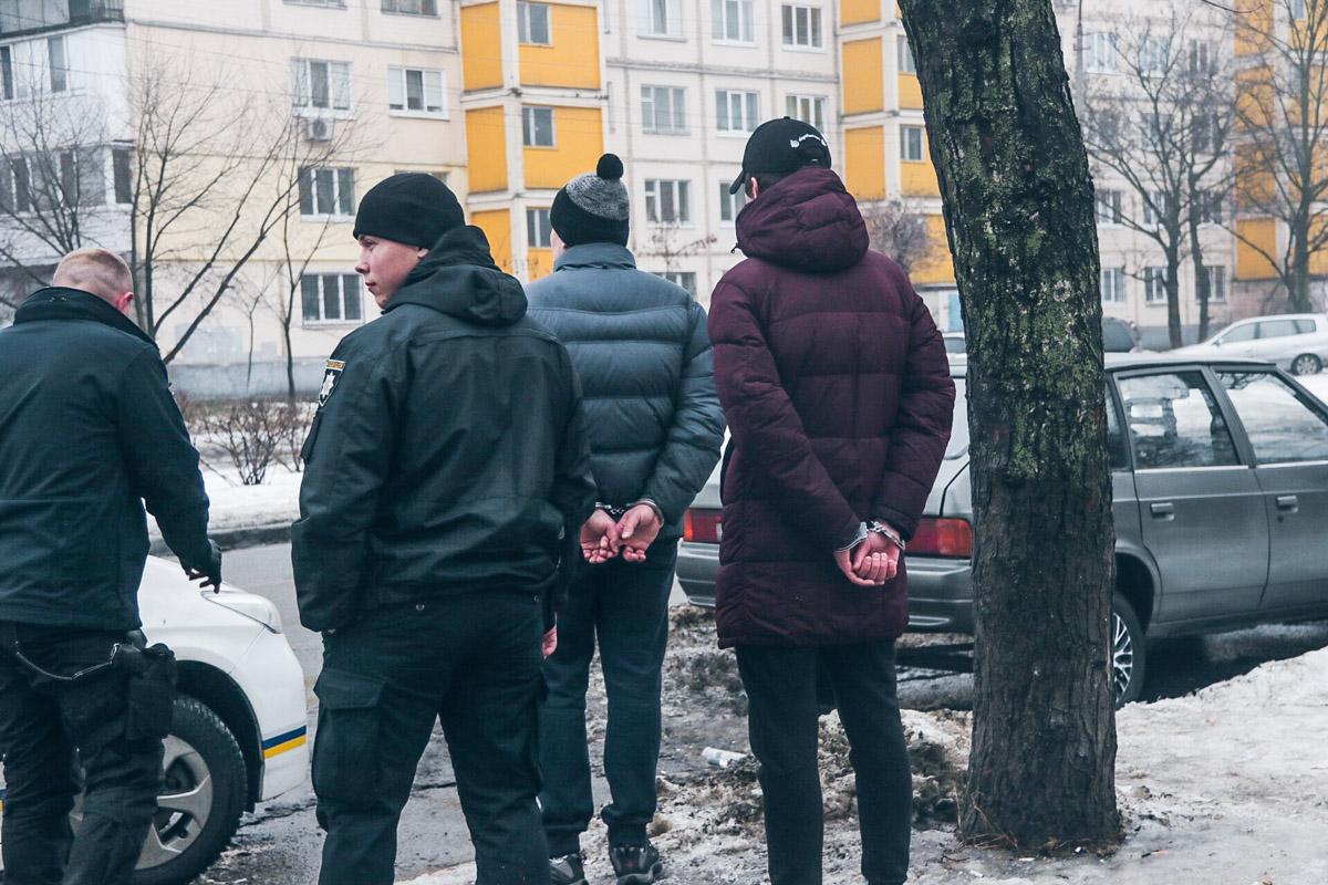 Подозреваемых задержали правоохранители