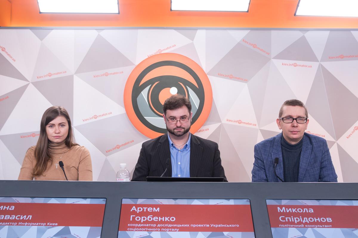 """1 февраля в пресс-центре """"Киев. Информатор"""" прошла пресс-конференция на тему электоральных предпочтений украинцев"""