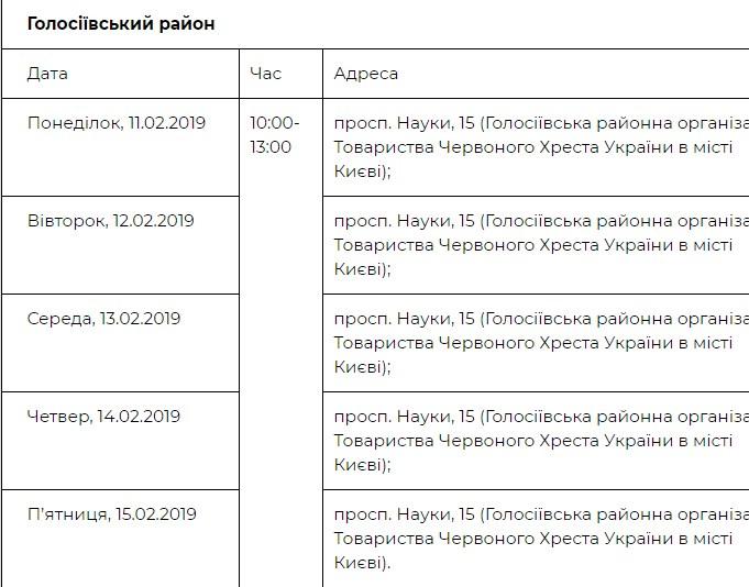 Где можно пройти бесплатное обследование в Голосеевском районе