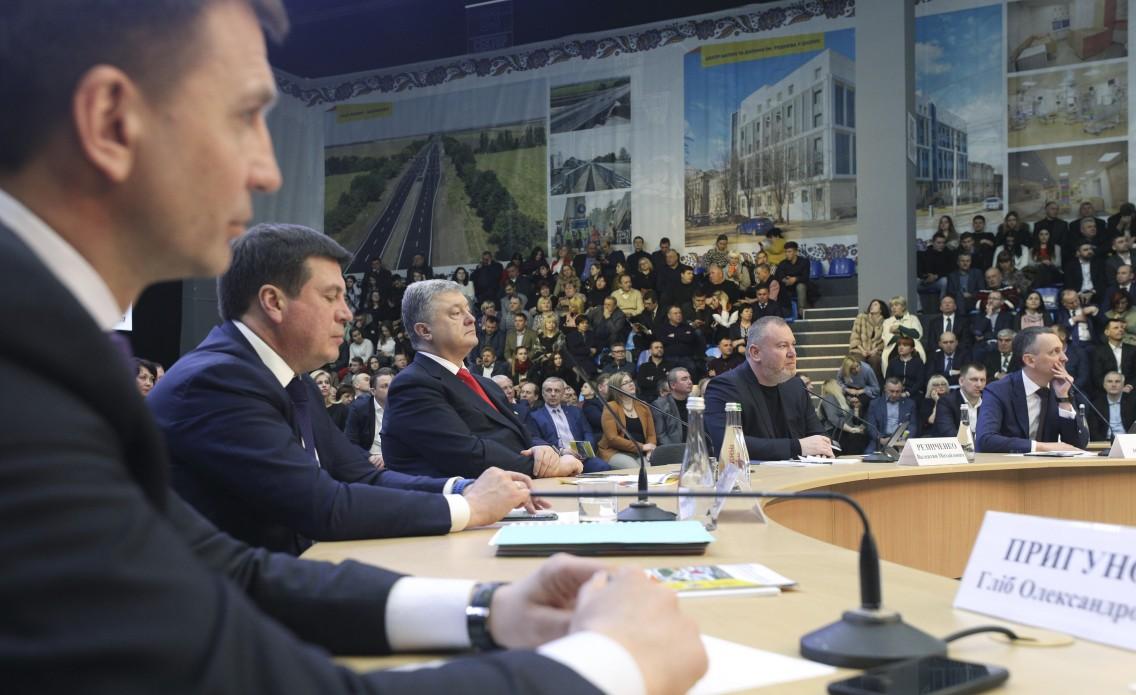 В планах команды Порошенко в Днепропетровской области еще сотни проектов