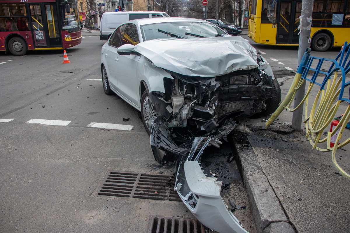 Пострадал водитель Volkswagen