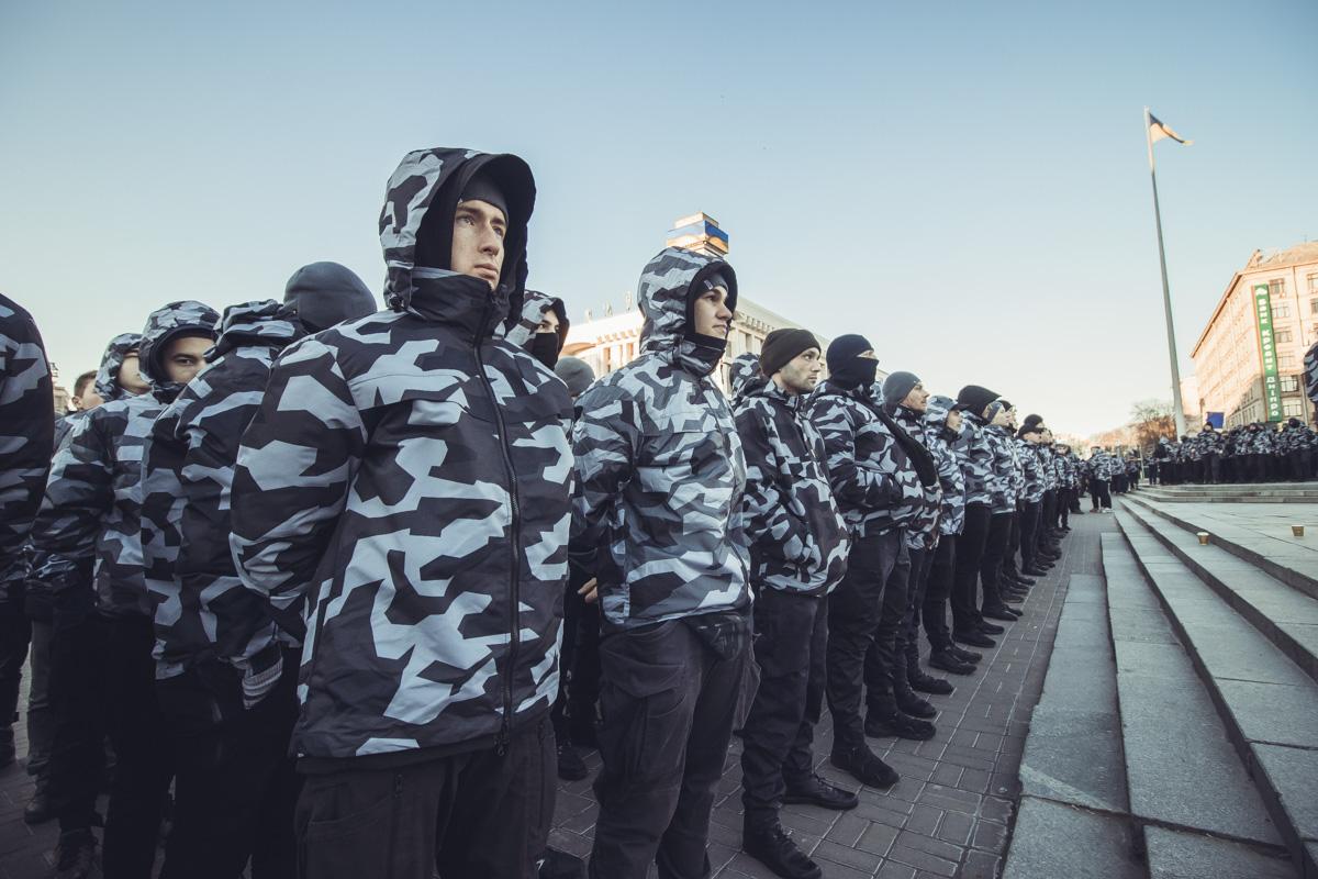 На Майдане собрались около тысячи националистов